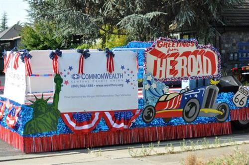 Our Float in this Yea'rs Morgan Hill 4th of July Parade