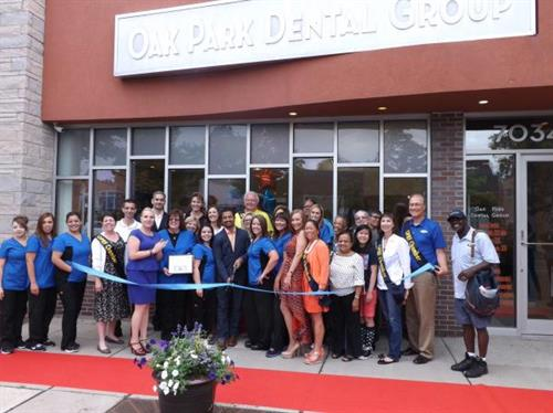 Ribbon Cutting at Oak Park Dental