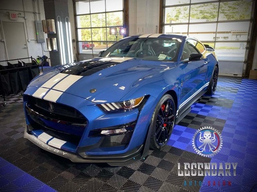 Blue Ford Mustang Shelby