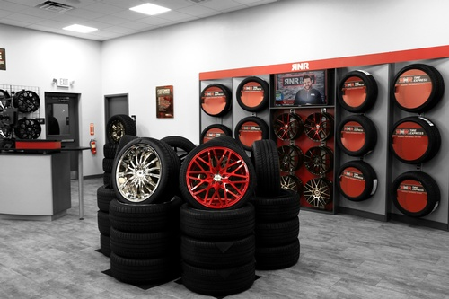 Show Room with tire display