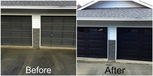 Garage Door: Before & After