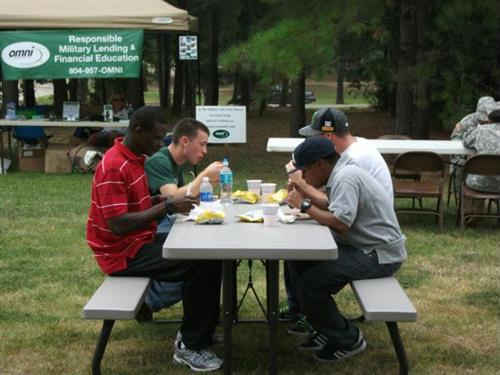 Ft Lee USO AIT BBQ AUG 2011.