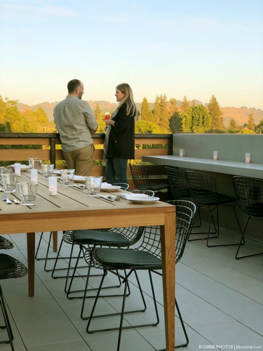 The Rooftop restaurant at Harmon Guest House.