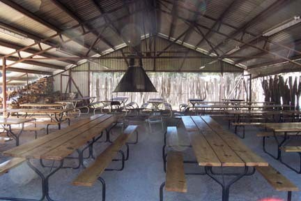 Inside the corral meeting area