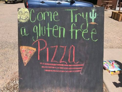 Gluten Free Pizza... try it, you'll like it!