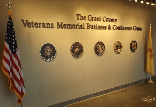 Honoring each branch of the armed services in our beautiful lobby