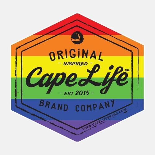 Cape Life Brand Logo Stickers
