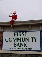 First Community Bank ''Elf on the Sign''
