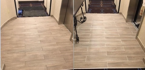 Hotel Tile Before and After