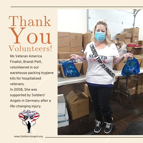 We were honored to have Ms Veteran America finalist, Brandi Pett, join us yesterday in our warehouse!