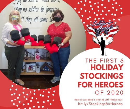 The first 6 donated stuffed Holiday Stockings for Heroes of 2020 have officially arrived at Soldiers' Angels! http://bit.ly/StockingsforHeroes  #Thankyou Joanna for being the first to complete and donate these amazing stockings!!  Have you pledged stockings yet? We currently only have 5,425 stockings pledged of our 20,000 goal... Please share and help us get more pledges!! Learn more and pledge now