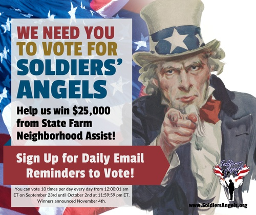 We're recruiting an Army of voters to help us Win $25,000! Will you join? https://bit.ly/3mMd8s0  We are excited to announce that we are 1 of 40 organizations up for a $25K grant from State Farm Neighborhood Assist. Popular vote will determine the winner... so we really need your help!