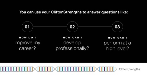 When is the last time you looked at your CliftonStrengths report? Take some time this week to review your top strengths and think about how you can use your talents to answer these questions. Log in to see your report.