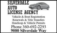 Silverdale Auto License Agency, Inc.