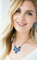 Royal Blue Necklace! 16'' to 19'' length, $89!