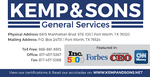 KEMP & SONS General Services, Inc.