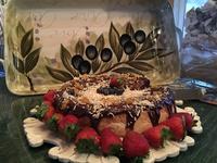 Citrus Infused Fraulein Cheesecake with Dark Chocolate Ganache & White Chocolate Panache
