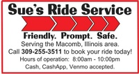Sue's Ride Service