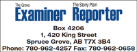 Stony Plain Reporter/Grove Examiner