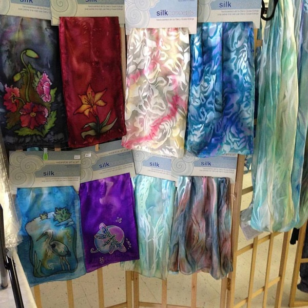 Beautiful silk scarves