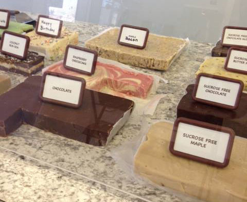 Delicious fudge, made in-store!