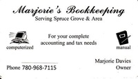 Marjorie's Bookkeeping / Sewing Services