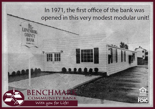 First office was opened in Kenbridge, VA on September 8, 1971.