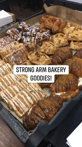 Blue Collie Coffee Shop - Strong Arm Baking Company Day is Tuesday!