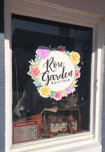 Rose Garden Boutique Front window