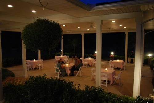 The Hudosn Manor Estate Lakeside Terrace at Night