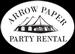 Arrow Paper Party Rental