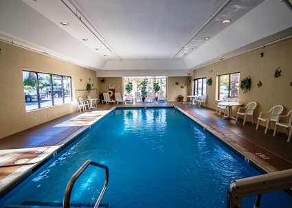 Enjoy swimming at the indoor pool!