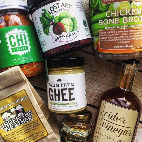 Three flavors of ghee and our Ayurvedic body care line!