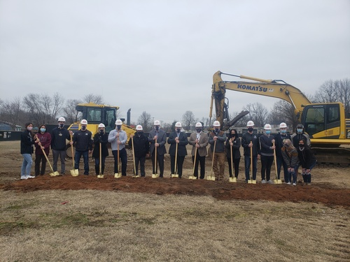 Groundbreaking at New Neosho HS End Zone Facility