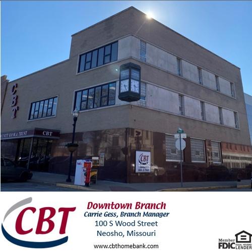 Community Bank & Trust, 100 S Wood St, Neosho, MO