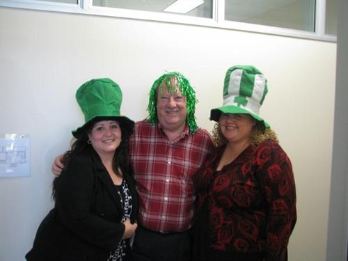 United Blood Services Staff celebrating St. Patricks Day