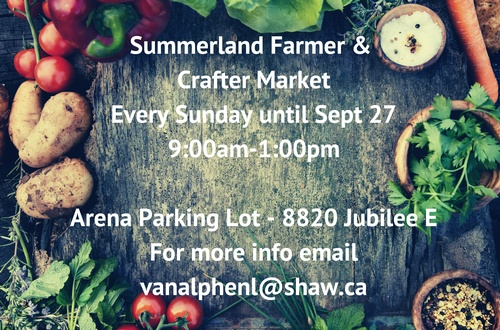 Market Manager - Summerland Sunday Farmers & Crafters Market