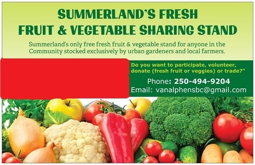 Manager - Summerland Fresh Fruit & Vegetable Sharing Stand