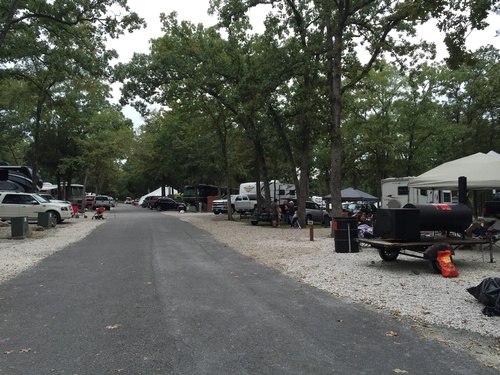 Full Campground at Port of Kimberling