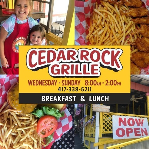 Cedar Rock Grille Now Open at Lakeview Campground