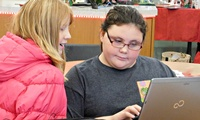 Intermediate School Students Collaborate on Computer Programming