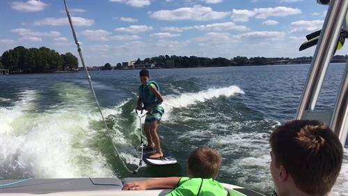 A day of water sports on the lake!