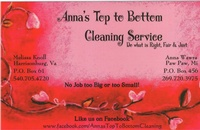 Anna's Top to Bottom Cleaning Service