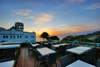 Beautiful ocean and sunset views from our rooftop deck!