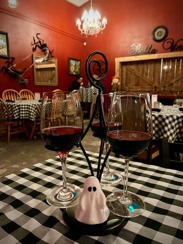 Enjoy a wine flight.