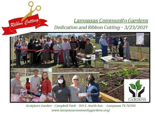 Lampasas Coummunity Gardens Ribbon Cutting Ceremony