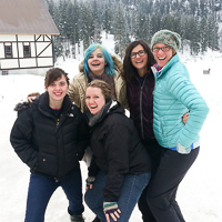 Snow camp (''Hotoggin''') girls pic