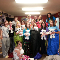 A girl's slumber party at YD with the Boyfriend Bears team.