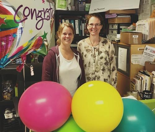 Coordinators Cheryl Barnes and Jane McIninch