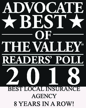 2018 - Best of the Valley - Local Insurance Agent